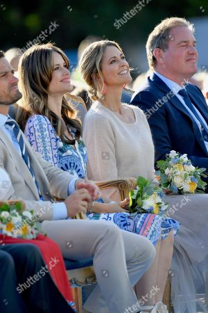 Princess Sofia of Sweden, Princess Madeleine and Chris O'Neill attend Crown Princess Victoria's 42nd birthday celebration.