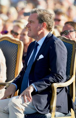 Chris O'Neill attends Crown Princess Victoria's 42nd birthday celebration.