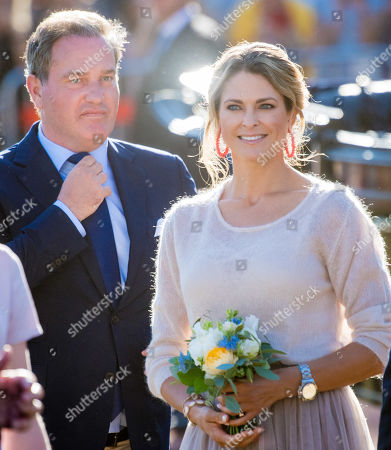Stock Photo of Princess Madeleine and Chris O'Neill at the Borgholm Sports Arena