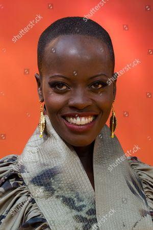 Florence Kasumba poses on the red carpet at the European premiere of 'The Lion King' in Leicester Square in London, Britain, 14 July 2019. The film will be released in UK theaters on 19 July 2019.