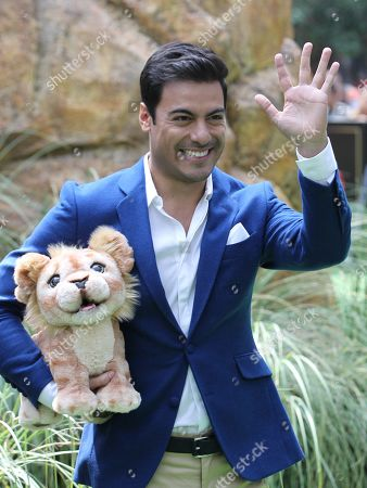 Carlos Rivera poses at his arrival to the presentation of the movie 'The Lion King' in Mexico City, Mexico, on 14 July 2019.