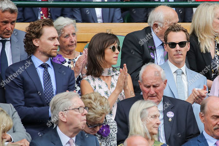Tom Hiddleston, Sophie Hunter and Benedict Cumberbatch in the Royal Box