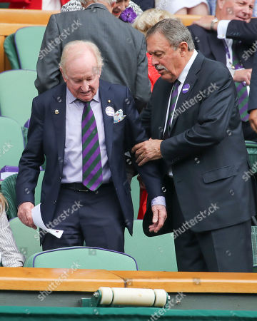 Rod Laver and John Newcombe in the Royal Box