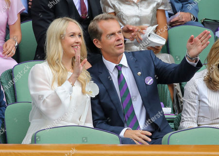 Stock Picture of Stefan Edberg in the Royal Box