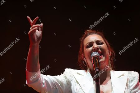 Nina Pastori presents her new album 'Bajo tus alas' during the nights of the Botanical at the Real Jardin Botanico Alfonso XIII in Madrid, Spain, 14 July 2019.