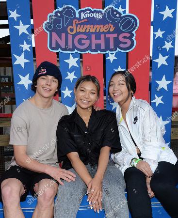Toby Miller, Chloe Kim and Alicia Tong