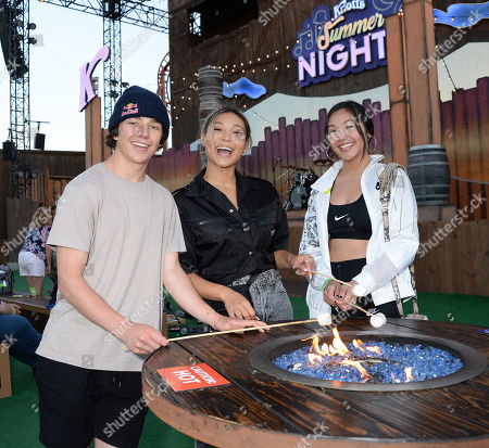 Toby Miller, Chloe Kim and Alicia Tong