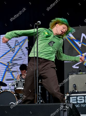 """Cole Becker of the """"SWMRS"""" appearing on the King Tuts stage"""