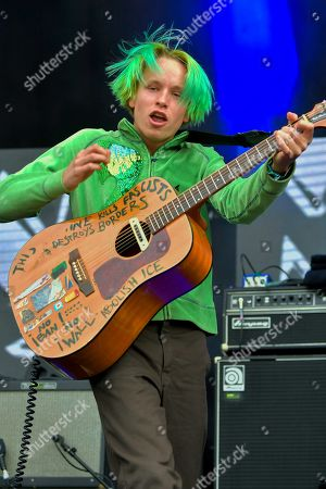 """Stock Picture of Cole Becker of the """"SWMRS"""" appearing on the King Tuts stage"""