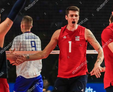 Editorial photo of USA vs Russia FIVB volleyball, Chicago - 14 Jul 2019