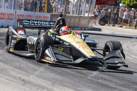 James Hinchcliffe during the race