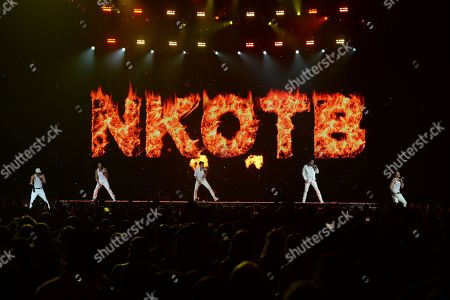 Stock Image of Danny Wood, Jordan Knight, Jonathan Knight, Joey McIntyre, Donnie Wahlberg