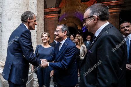 French Ambassador in Italy Christian Masset, Italian Minister of Finance Giovanni Tria