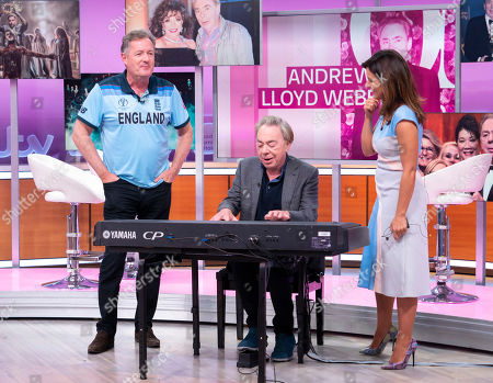 Stock Picture of Piers Morgan and Susanna Reid with Sir Andrew Lloyd Webber