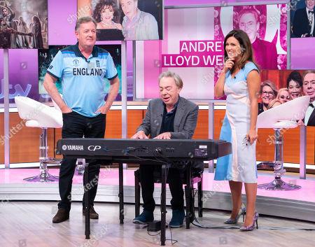 Piers Morgan and Susanna Reid with Sir Andrew Lloyd Webber