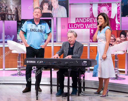 Stock Photo of Piers Morgan and Susanna Reid with Sir Andrew Lloyd Webber