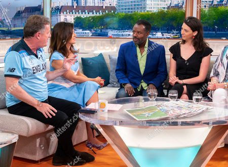 Stock Photo of Piers Morgan and Susanna Reid, David Grant, Madeleine Grant