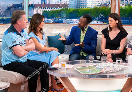 Stock Image of Piers Morgan and Susanna Reid, David Grant, Madeleine Grant