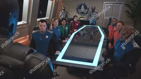 Seth MacFarlane as Capt. Ed Mercer, Adrianne Palicki as Cmdr. Kelly Grayson, Penny Johnson Jerald as Dr. Claire Finn, Jessica Szohr as Lt. Talla Keyali, J Lee as Lt. Cmdr. John LaMarr, Scott Grimes as Lt. Gordon Malloy and Peter Macon as Lt. Cmdr. Bortus