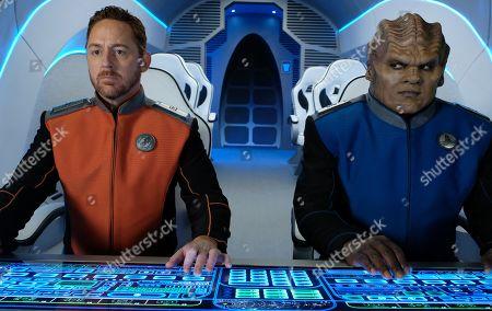 Scott Grimes as Lt. Gordon Malloy and Peter Macon as Lt. Cmdr. Bortus