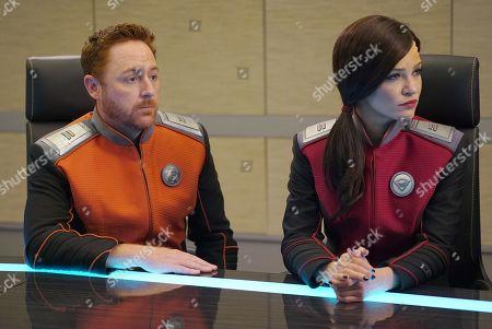Scott Grimes as Lt. Gordon Malloy and Jessica Szohr as Lt. Talla Keyali