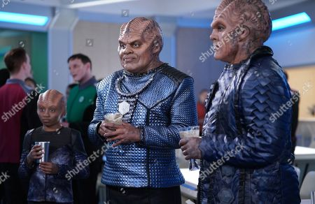 Stock Picture of Blesson Yates as Topa, Chad L. Coleman as Klyden and Peter Macon as Lt. Cmdr. Bortus