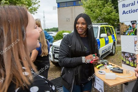 Sandi Bogle at Cambridgeshire Police HQ in Huntingdon on Saturday morning to help with a police recruitment day.