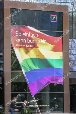 Logo German Bank Deutsche Bank Slogan So Editorial Stock Photo