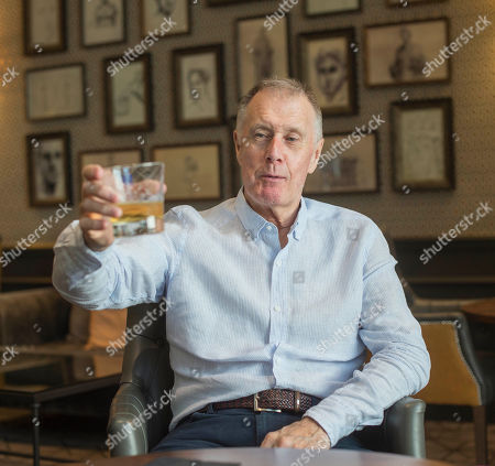 Editorial image of Sir Geoff Hurst. 1966 World Cup Hat-trick Hero Sir Geoff Hurst Enjoys A Jack Daniel's And Ginger Ale. Football Feature 1966 World Cup Winner. Picture Graham Chadwick.