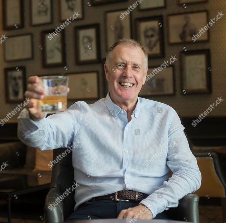 Editorial picture of Sir Geoff Hurst. 1966 World Cup Hat-trick Hero Sir Geoff Hurst Enjoys A Jack Daniel's And Ginger Ale. Football Feature 1966 World Cup Winner. Picture Graham Chadwick.