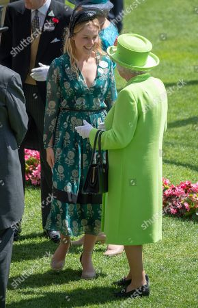 Hm The Queen With Lady Margarita Armstrong-jones On Day Four Of Royal Ascot Traditionally Know As Armed Forces Day. 22/06/2018.