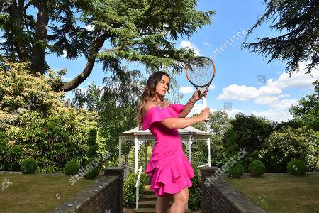 Gabriella Taylor . Tennis Feature Wimbledon Preview 2018. British Tennis Player Gabriella Taylor.