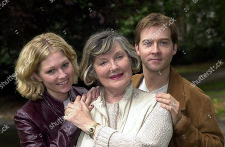 Stock Photo of Actors (l-r) Emma Ferguson Barbara Murray And Stash Kirkbridge The Trio Are Appearing Together In Ring Round The Moon At The Kings Head In Islington London.