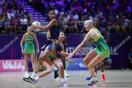 Editorial photo of Australia v Barbados, Group F, 2019 Vitality Netball World Cup, Netball, M&S Bank Arena, Liverpool,UK -15 Jul 2019