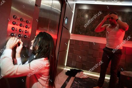 Natalie Martinez as Jennifer Robbins and Matt Lauria as Guy/John Deakins
