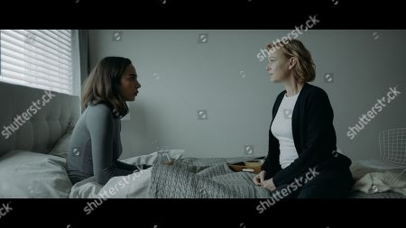 Aurora Perrineau as Ashley Prime and Samantha Mathis as Dr. Victoria Harris