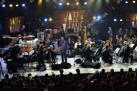 Stock Photo of Manu Dibango with the Orchestra National de Lyon