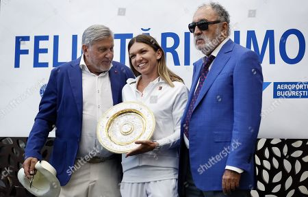 Editorial picture of Wimbledon Championships winner  Simona Halep arrives in Romania, Bucharest - 15 Jul 2019