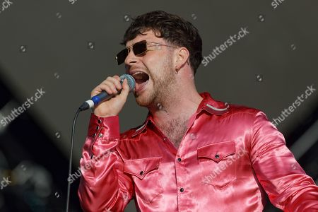 Tom Grennan performs on stage