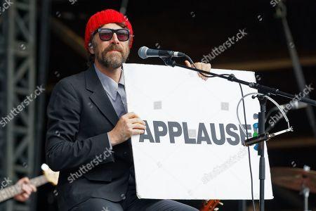 Editorial photo of Gruff Rhys in concert at Singleton Park, Swansea, Wales, UK - 13 Jul 2019