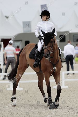 Mary-Kate Olsen of US at the jumping event during the Longines Global Champions Tour Jumping,