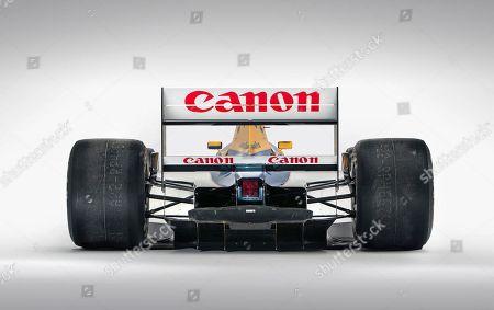 Nigel Mansell's Williams-Renault FW14B racing car