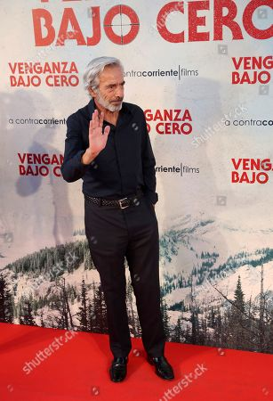 Imanol Arias poses during the press preview of 'Cold Pursuit' at the Capitol Cinemas in Madrid, Spain, 15 July 2019. The movie premieres in Spanish theaters on 26 July.