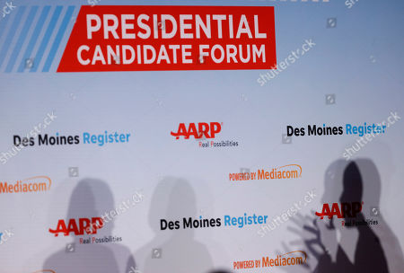 Cory Booker US Election campaigning Des Moines Stock Photos