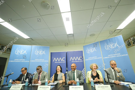 Giuseppe Sala, Al Hajj Erias Lukwago, Valerie Plante, Marvin Rees, Corine Mauch and Paulo Bruno