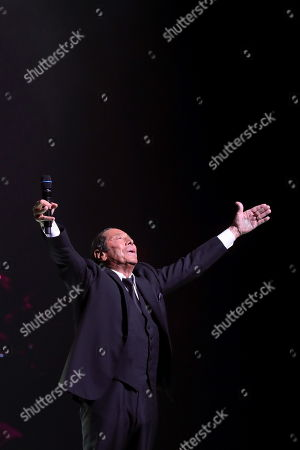 Paul Anka performs on stage during his concert at the Royal Theater in Madrid, Spain, 15 July 2019, on occasion of the 5th edition of the Universal Music Festival 2019.