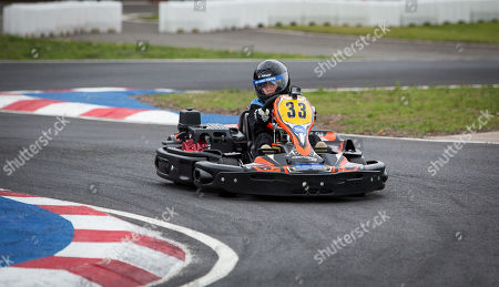 Dayton Coulthard son of former F1 driver David Coulthard racing a Kart