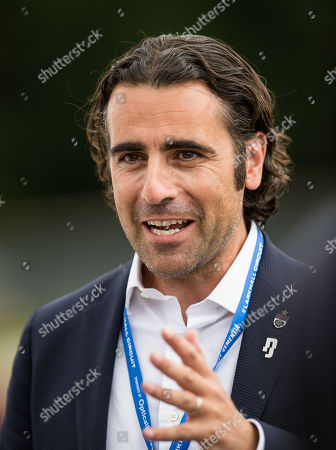 Former Indianapolis 500 Champion Dario Franchitti speaking during an interview