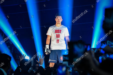 Ryota Murata of Japan enters the ring before