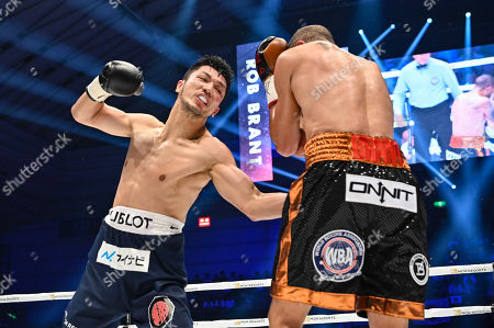 Ryota Murata of Japan fights against Rob Brant of United States